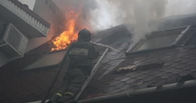 Ликвидация пожара в Таунхаусе